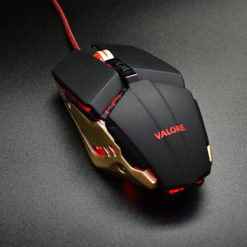 Valore-AURUM---Gaming-Mouse-(AC49)-Red-LED-light