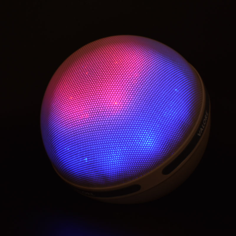 Valore-Aurora-Wireless-Speaker-With-Moodlight-(BTS21)-Beige-Moodlight