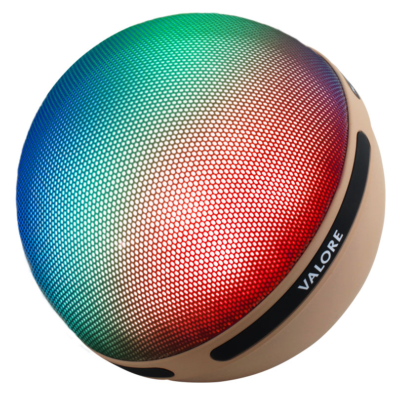 Valore-Aurora-Wireless-Speaker-With-Moodlight-(BTS21)-Beige-mix-colour-mode