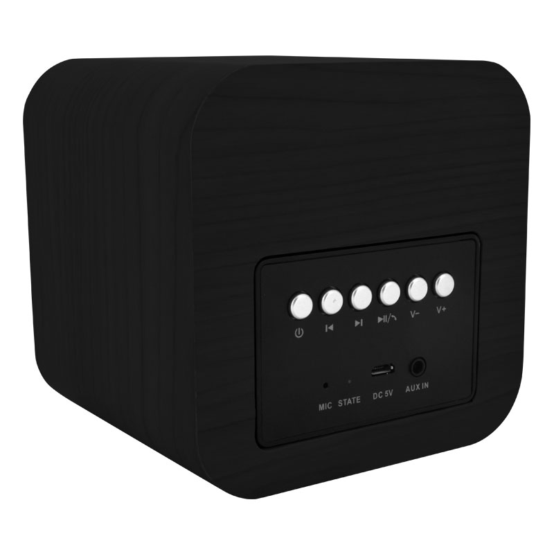 Valore-CUBE---Wooden-Wireless-Speaker-(BTS09)-Black-Controls