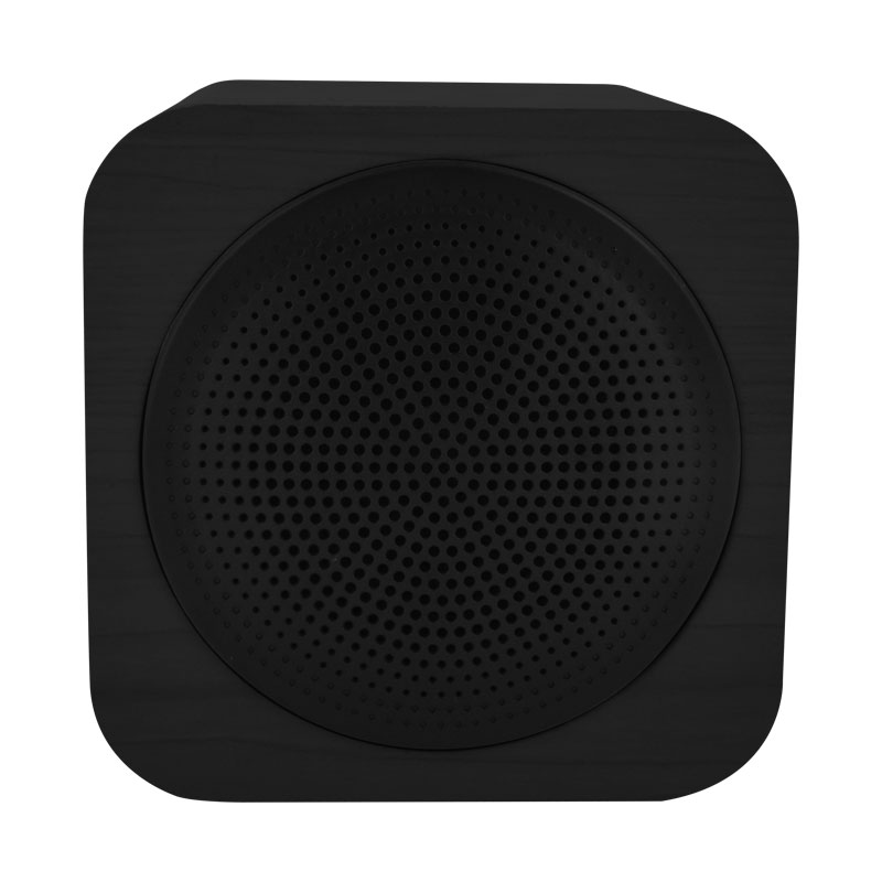 Valore-CUBE---Wooden-Wireless-Speaker-(BTS09)-Black-Front
