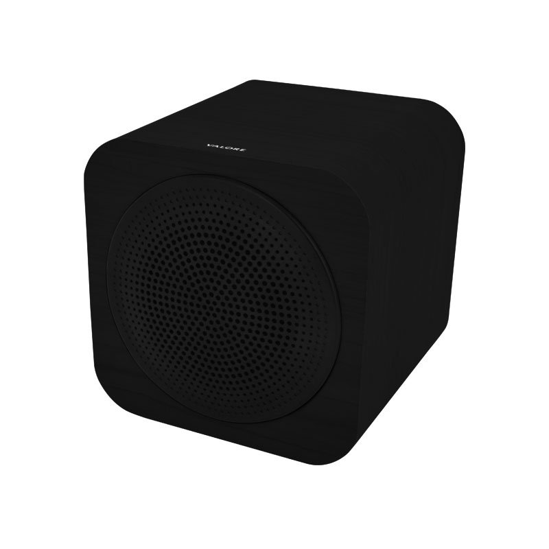 Valore-CUBE---Wooden-Wireless-Speaker-(BTS09)-Black