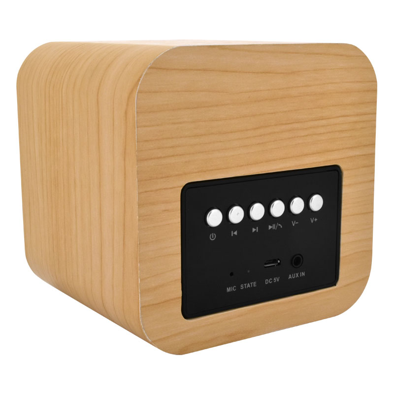 Valore-CUBE---Wooden-Wireless-Speaker-(BTS09)-Wooden-Controls