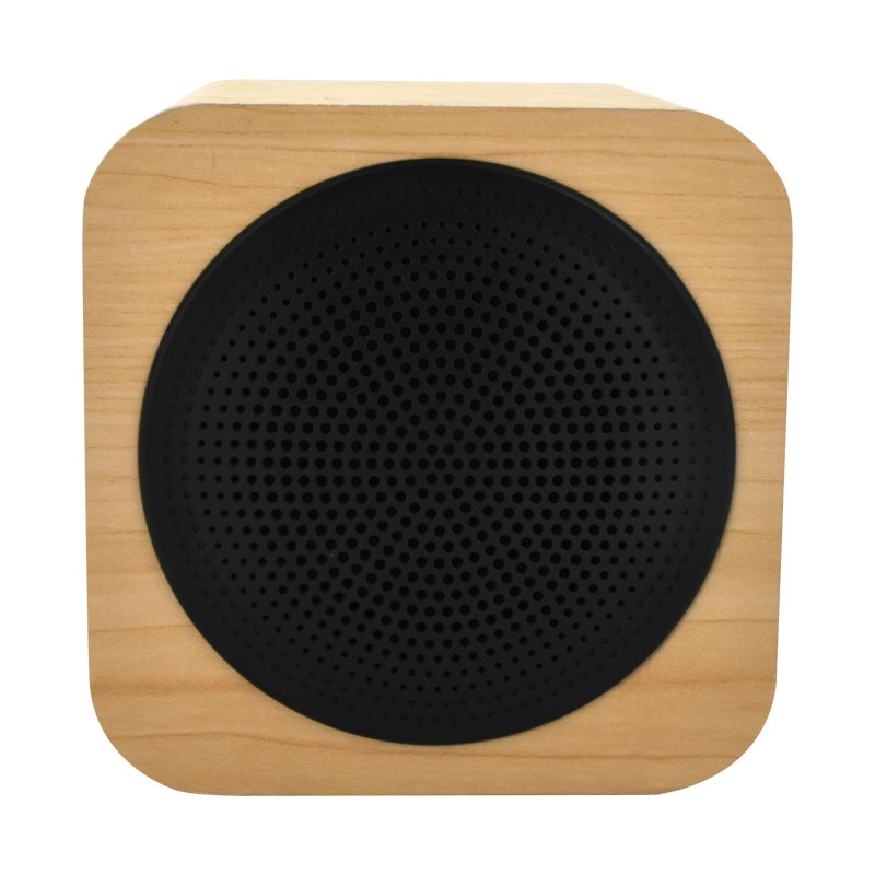 Valore-CUBE---Wooden-Wireless-Speaker-(BTS09)-Wooden-Front