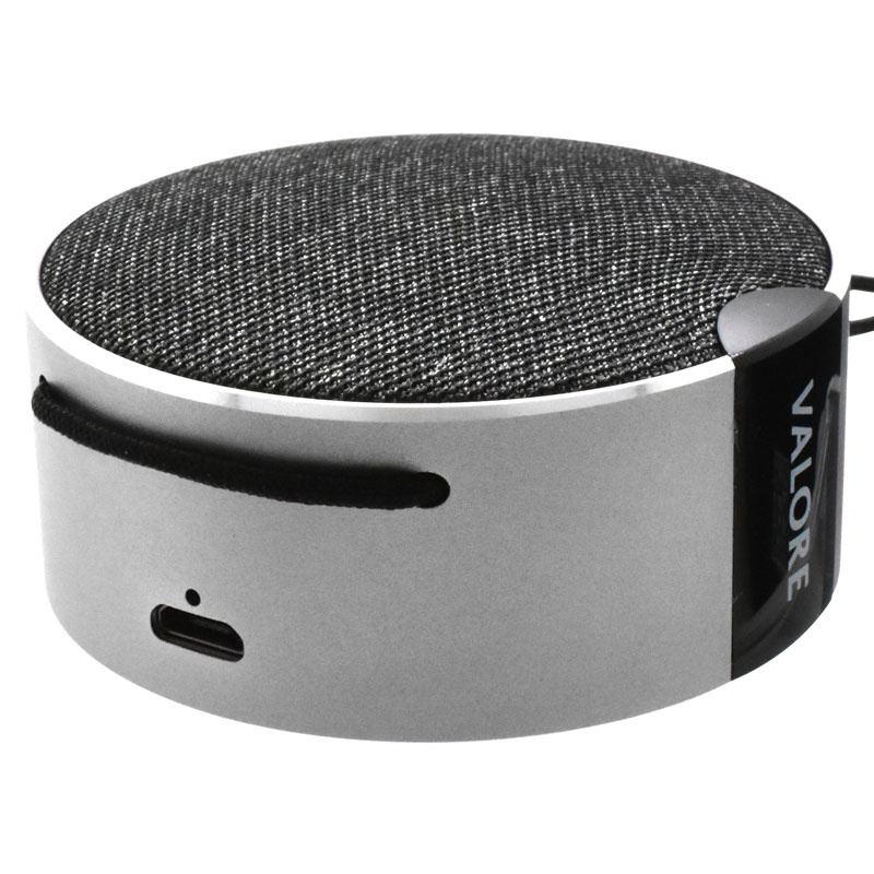 Valore-Canary---Wireless-Mini-Speaker-(BTS24)-Grey-charging-port