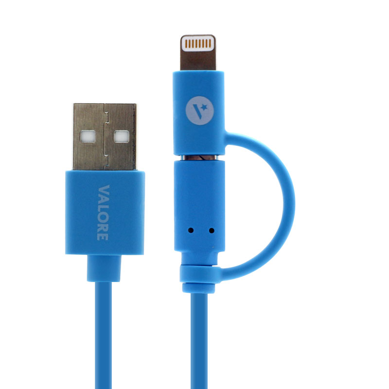 Valore-Charge-and-Sync-Lightning-Cable-with-Micro-USB-Connector-Closed(V-MA138)