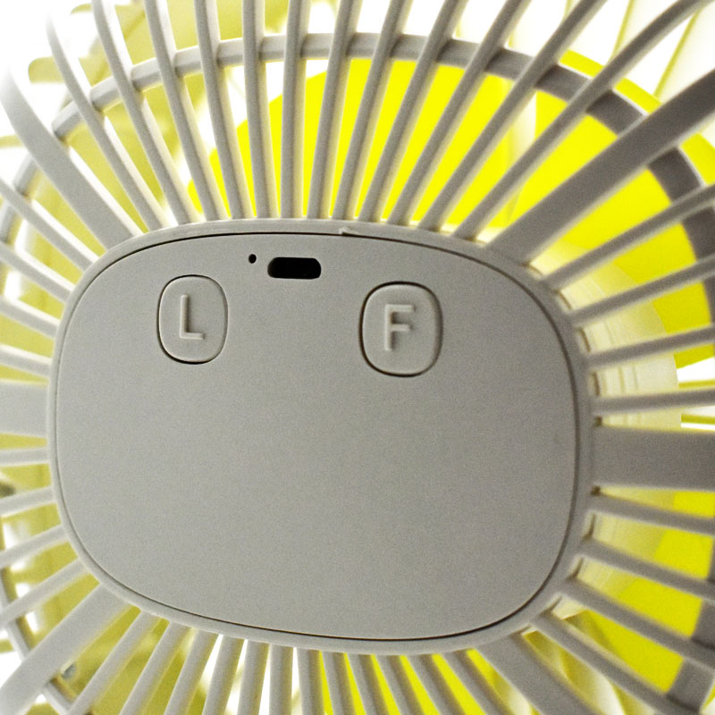 Valore-Clip-On-Fan-With-Night-Light-Function-(AC75)-Charging-port-and-operation-button