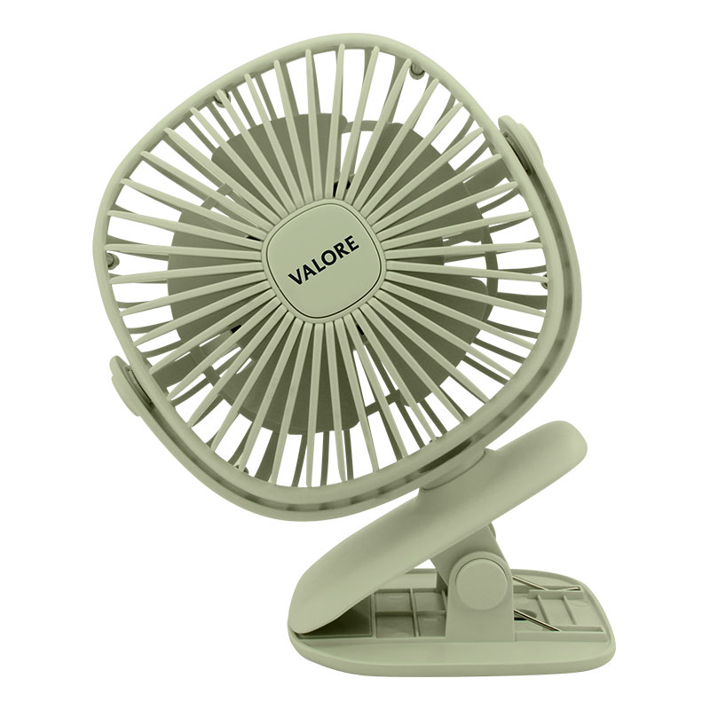 Valore-Clip-On-Fan-With-Night-Light-Function-(AC75)-Green-Rotatable