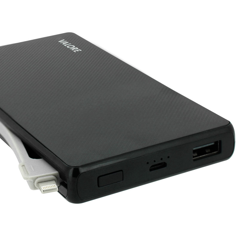Valore-Emu---10000mAh-Power-Bank-(PB17)-Black-ports-and-indicator