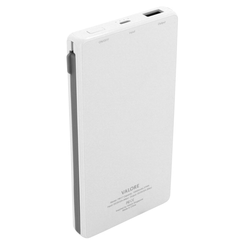 Valore-Emu---10000mAh-Power-Bank-(PB17)-White-back