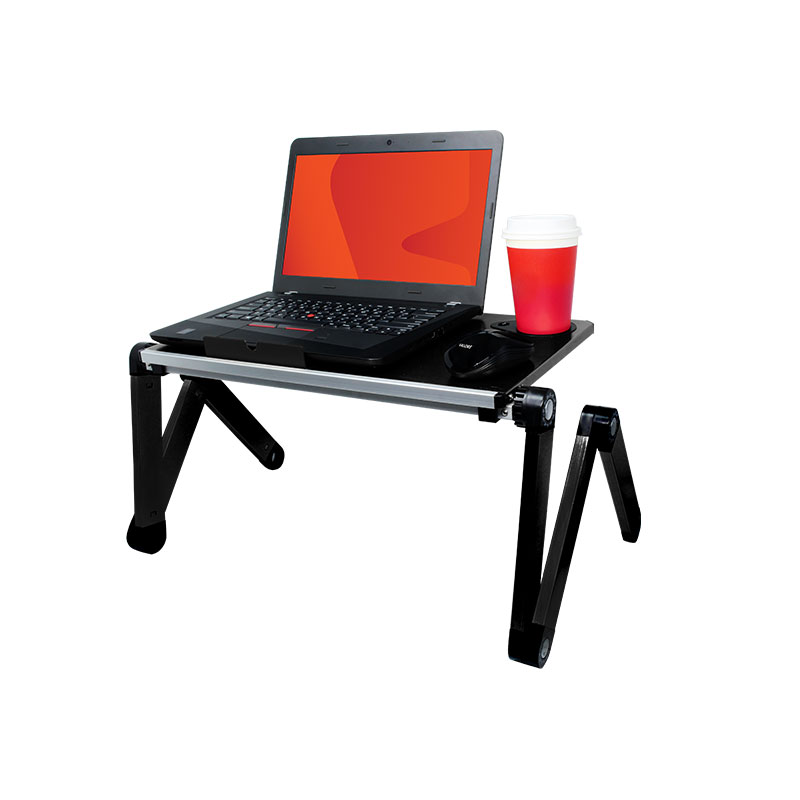 Valore-Foldable-Multi-Angle-Laptop-Desk-with-Built-in-Cooling-Pad-(AC913)-Black