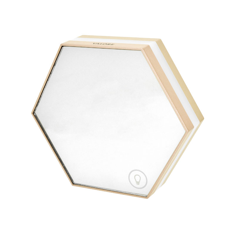 Valore-Honeycomb-3-in-1-Multi-functional-LED-Clock-(LA10)-Champagne-Gold