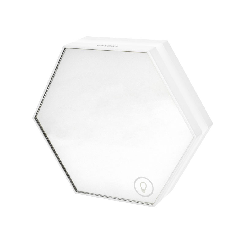 Valore-Honeycomb-3-in-1-Multi-functional-LED-Clock-(LA10)-White