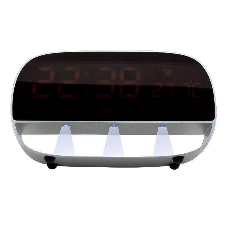 Valore-LED-Clock-With-Night-Light-Function-(LA20)-Silver-night-light
