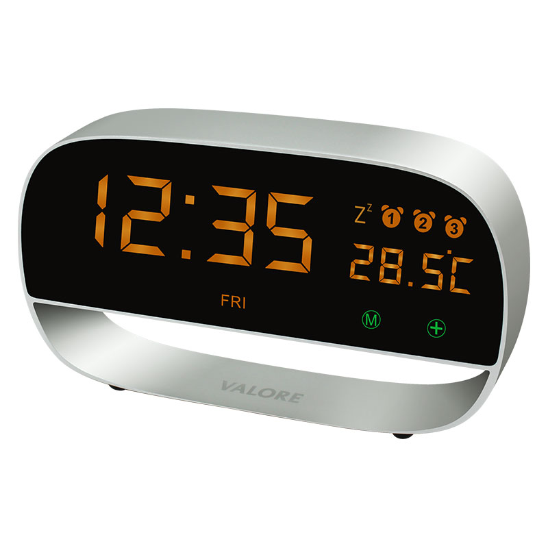 Valore-LED-Clock-With-Night-Light-Function-(LA20)-Silver