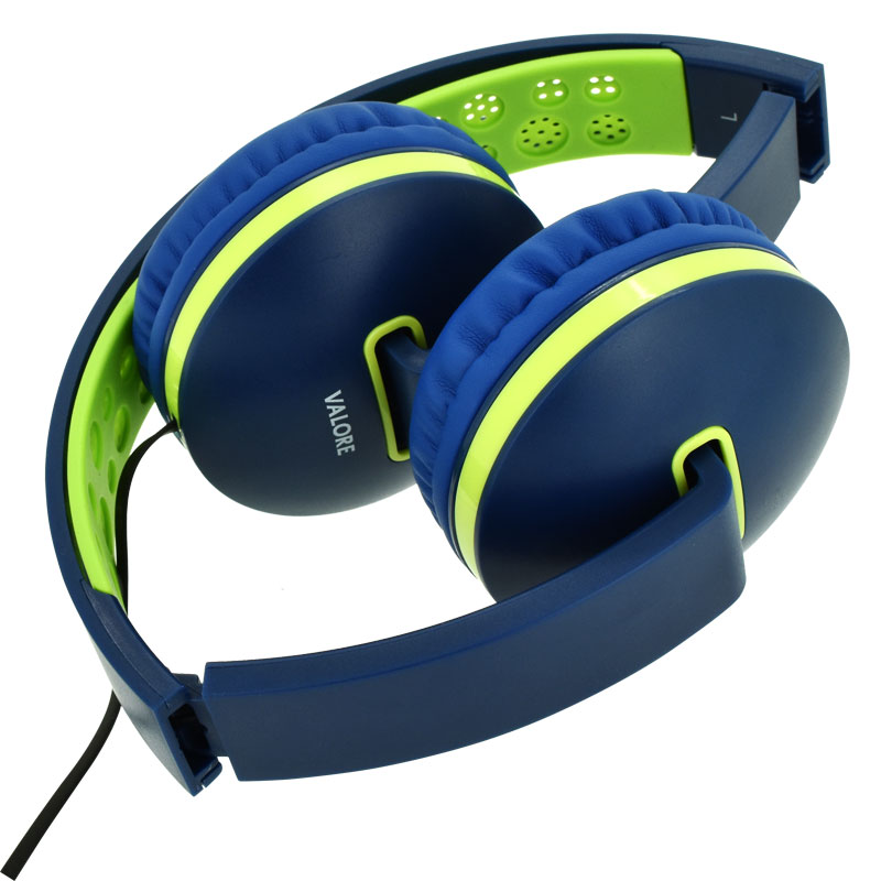 Valore-Melo-tune---Music-Headset-(Blue)-Folded