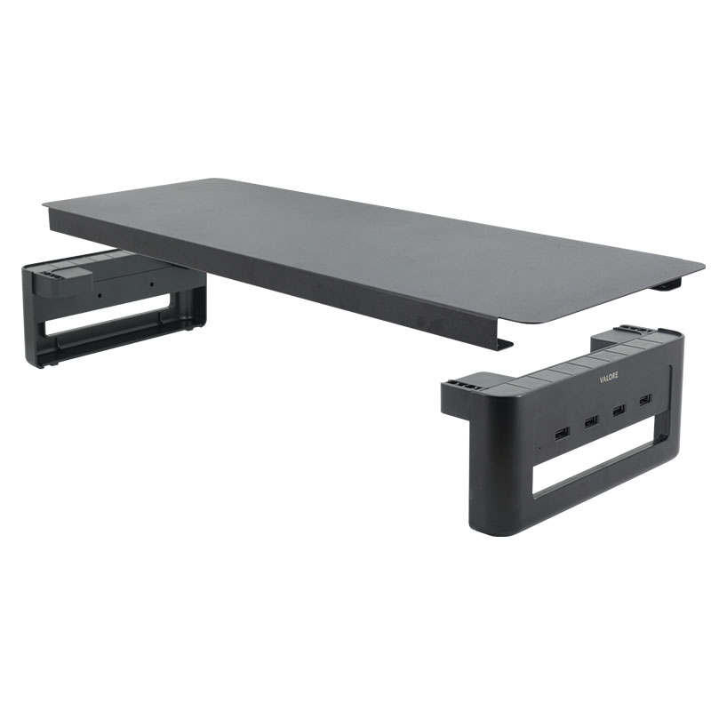 Valore-Monitor-Riser-with-4-USB-Ports-(AC133)-Assembly