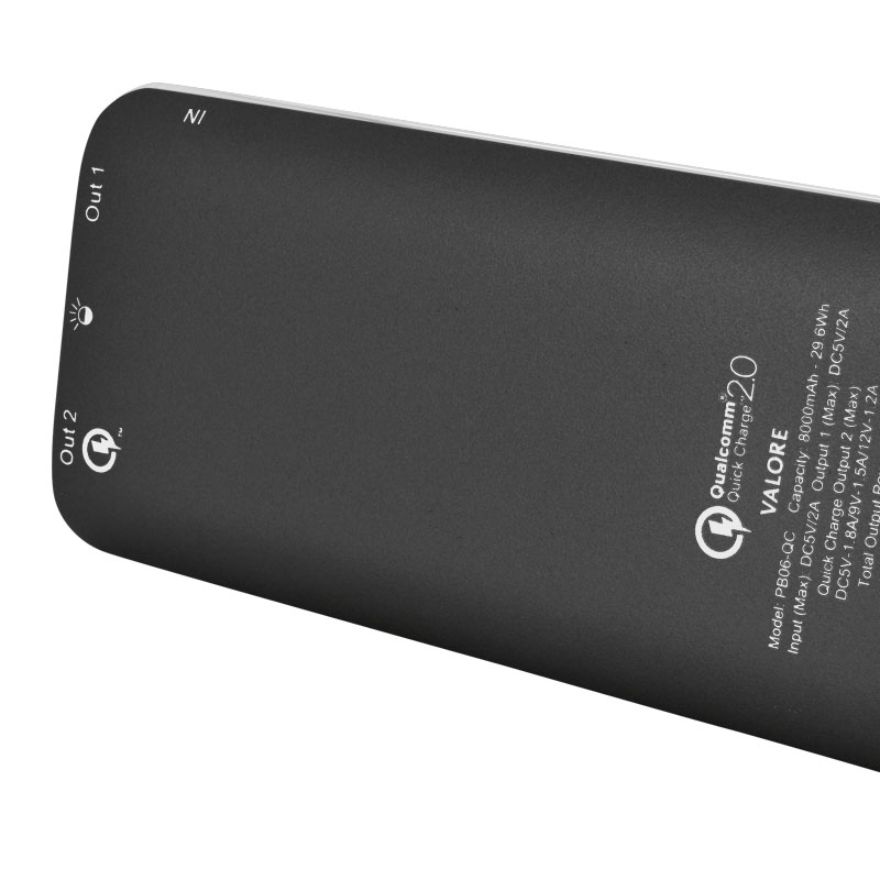 Valore-Quick-Charge-8000mAh-Power-Bank-(PB06-QC)-Grey-back