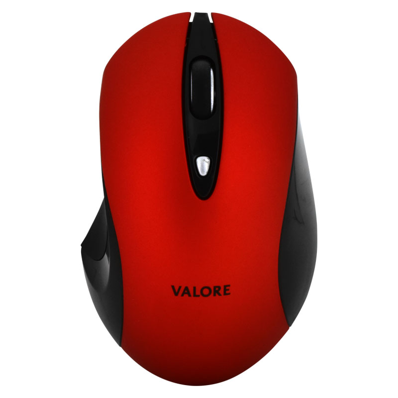 Valore-Silent-Wireless-Mouse-(AC43)-Red-front