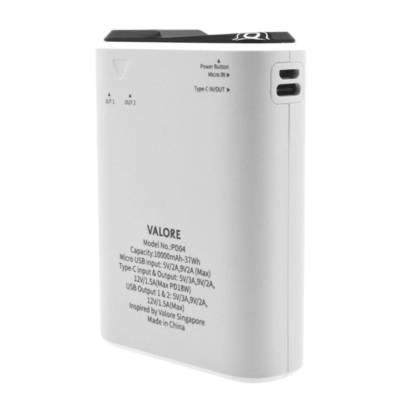 Valore-TRU10-18W-10000mAh-Power-Bank-(PD04)-Back