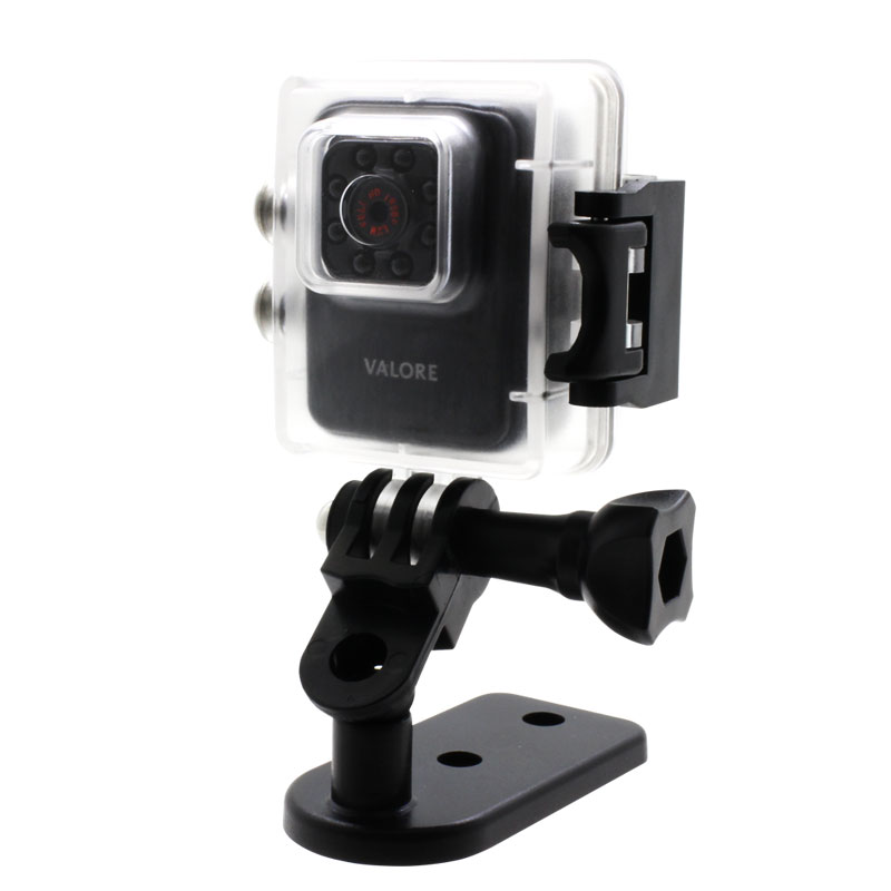 Valore-Tarsier---1080P-Mini-WiFi-Action-Camera-(VMS60)-waterproof-case-and-mount