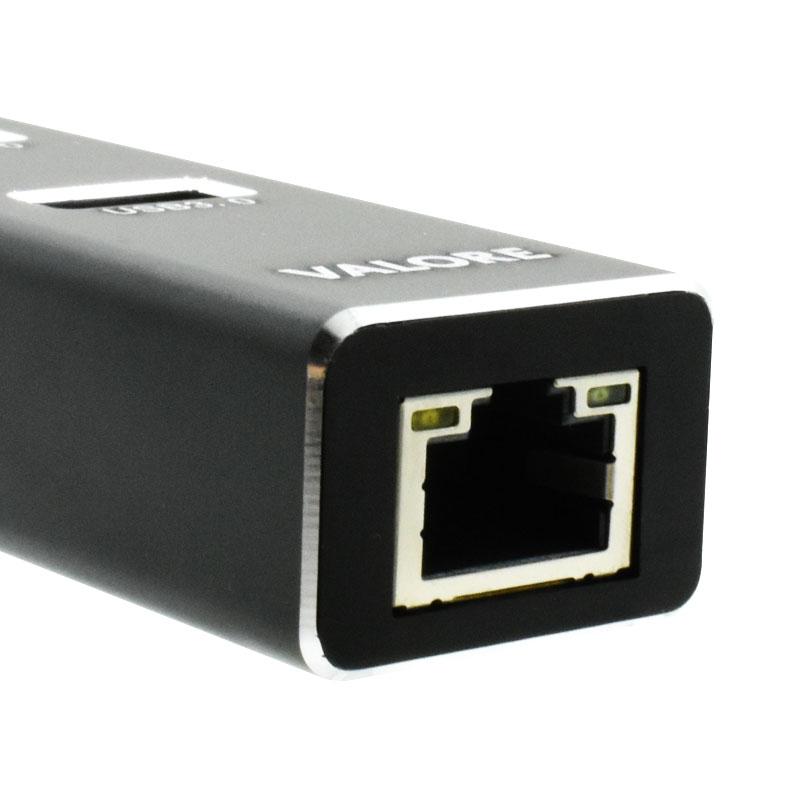 Valore-Type-C-3-Port-USB-3.0-Hub-With-Gigabit-Ethernet-Adaptor-(VUH-30)-LAN-port