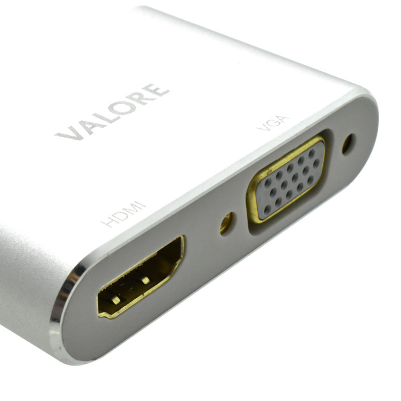 Valore-Type-C-To-HDMI-&-VGA-AdaptorHDMI-(VUH-26)