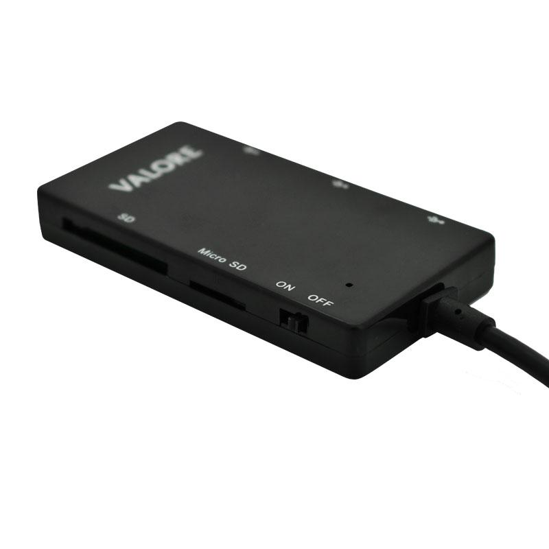 Valore-USB-2.0-Combo-Hub-with-OTG-Funcion-(VUH-14)-Card-reader