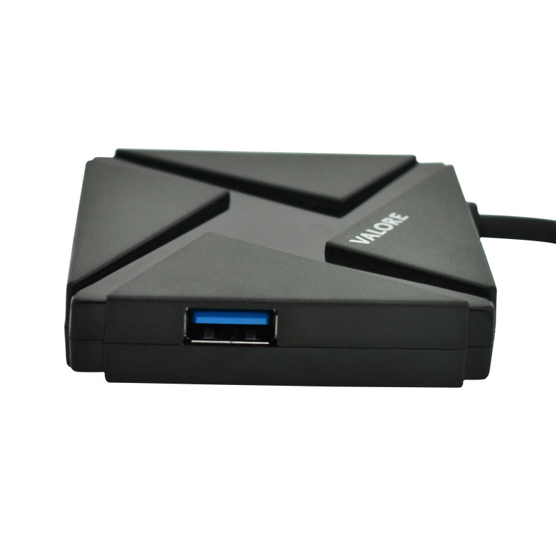 Valore-USB-C-4-Port-USB-3.0-Hub-(VUH-13)left