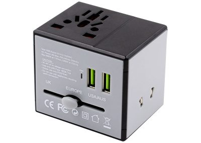 Valore Universal Travel Adaptor With Dual USB Port (AC76)
