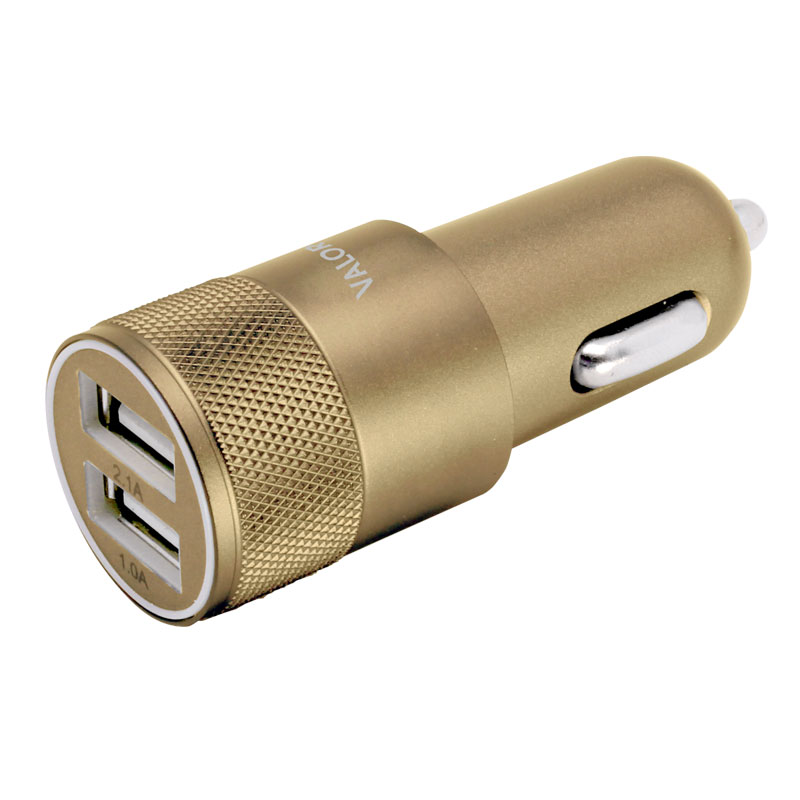Valore-V-AC9101-Dual-USB-Port-Car-Charger-Gold