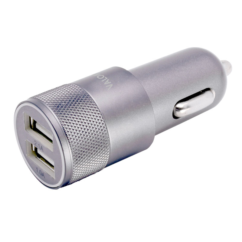 Valore-V-AC9101-Dual-USB-Port-Car-Charger-Silver