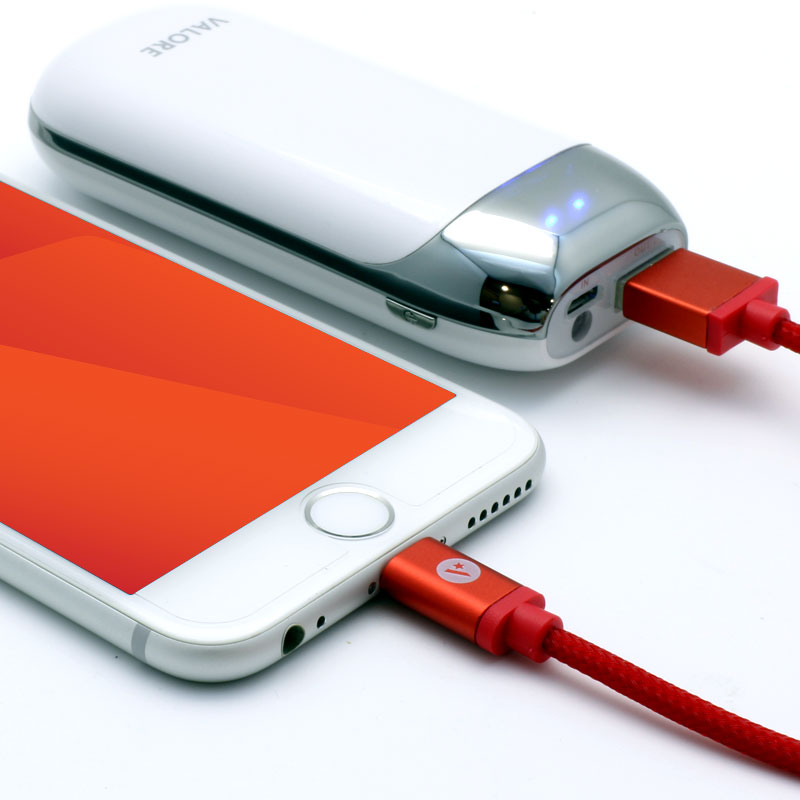 Valore-V-MA136-Charge-and-Sync-Lightning-Cable-Red-iPhone
