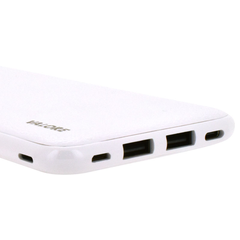 Valore-Versatile---8000mAh-Power-Bank-(PB22)-White-ports