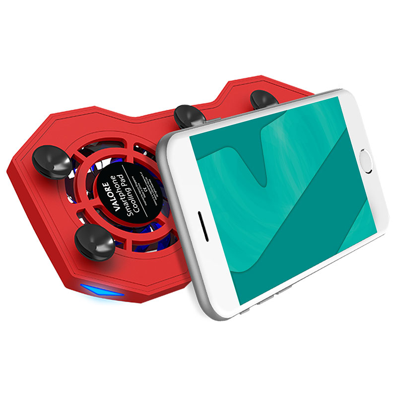 Valore-Yeti---Smartphone-Cooling-Pad-(AC47)-Red-phone-suction