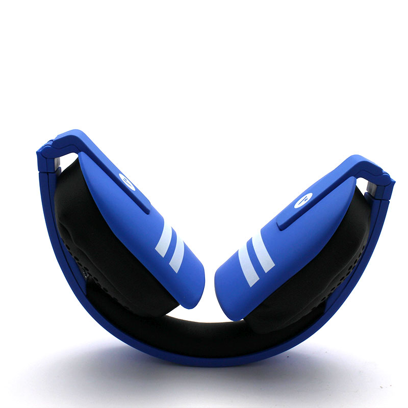 Y8-Wireless-Headset-Blue-Folded-Front-View