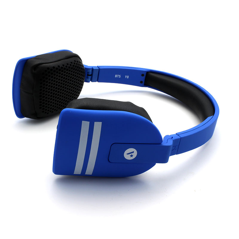Y8-Wireless-Headset-Blue-Side-View